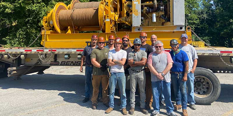 Foreman Mike Berry and crew with station personnel from WEHT in Henderson, KY
