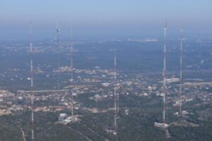 June - Antenna Farm taken from KTBC tower Austin, TX.